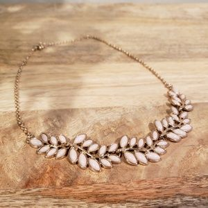 Gorgeous light pink and gold necklace